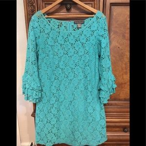 Jessica Howard Teal Lace Dress size 10